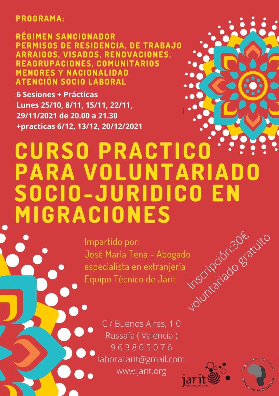 Curso práctico para voluntariado socio jurídico en migraciones